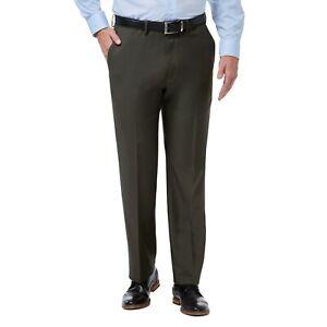 Men's Premium Comfort Flex Waistband Dress Pants by Haggar Retail $70-$80 NWT