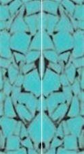"""Crushed Turquoise Acrylic 2 pc Mini Knife 3/16""""x3/4""""x3 34; #19"""