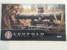 Leupold Tactical Optics 2014 Catalog Booklet 33 Pages NEW SEAL DEVGRU NSW SOF