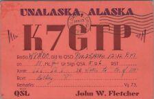 Vintage QSL HAM Radio Cards Unalaska Alaska K7GTP Used Posted 1939
