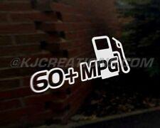 60+ MPG PUMP car vinyl decal vehicle bike graphic bumper sticker