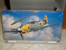 Hasegawa 1/48 Scale Messerschmitt Bf 109F-4 Trop/R1 w/Gun Pack - Factory Sealed