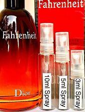 DIOR FAHRENHEIT  Eau De Toilette for MEN 3ml, 5ml,10ml DECANTED GLASS SPRAYER