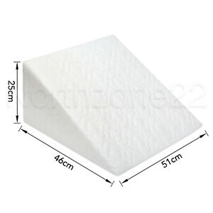 Orthopaedic Wedge Pillow Back Support Acid Reflux Pain Relief Quilted Cushion
