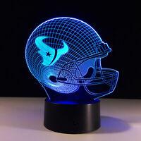 Houston Texans Collectible Light Lamp Home Decor Gift Deshaun Watson JJ Watt