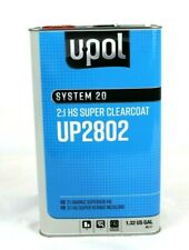 Clear Coat HS Super Clear Kit U-Pol UP2802 W/ Choice of Hardener 2 to 1 Mix UPOL