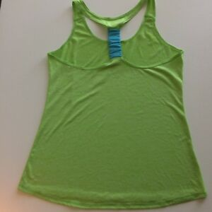 AVIA Woman Tank Green With Black Accents Active Wear Top Size M