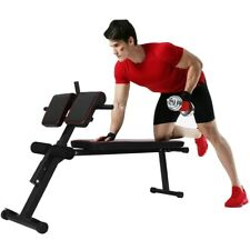 Adjustable Roman Chair Back Hyperextension Bench For Strengthening Abs Traning h