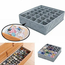Foldable Bamboo Charcoal Underwear Socks Drawer Organizer Storage Box 30Cells CL