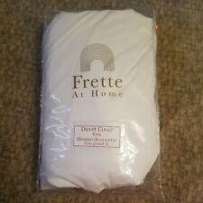 New listing Frette at Home Piave King Duvet Cover White/White