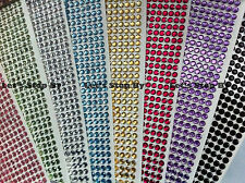 560pcs 3mm Rhinestone Diamond Crystal Bling Decoration Wedding Sticker Iphone