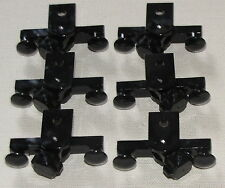 LEGO LOT OF 6 NEW BLACK 9V VOLT TRAIN MAGNET BUFFER BUMPER PIECES