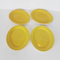 Shenango China Restaurant Oval Plate Platter Set of 4 Yellow 8900