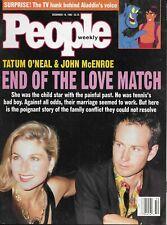 TATUM O'NEAL & JOHN MCENROE Dec. 14, 1992 PEOPLE WEEKLY Magazine