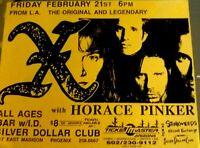 X - Concert Flyer for Legendary Californian punk band. Phoenix. Horace Pinker.