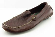 Clarks Driving Moccasins Brown Leather Men Shoes Size 10.5 Medium