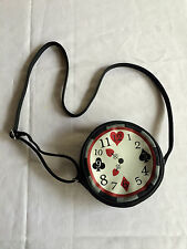 Disney Parks Alice Wonderland Round Clock Crossbody Shoulder Bag Purse Handbag