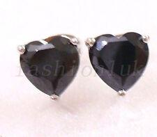 Orecchini di bigiotteria farfalline nero a cuore