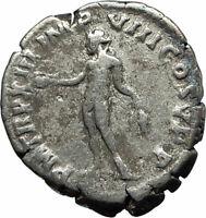 COMMODUS son of Marcus Aurelius 188AD Silver Ancient Roman Coin Genius i76196