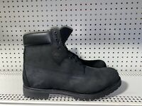 Timberland Premium 6 Inch Mens Nubuck Waterproof Boots Size 16 Black