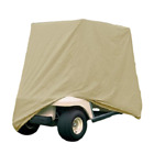 Beige - Two Person Golf Cart Cover - Superior Heavy Duty 420 Denier Weight