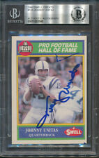1990 Swell Greats #104 Johnny Unitas Beckett Authentic Autograph Signed *2080