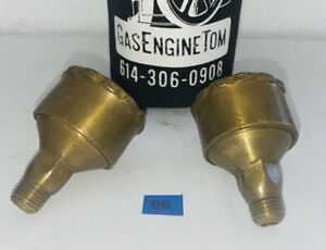 """PAIR Brass Grease Cup Hit Miss Gas Engine Steam Antique Oil Lubricator 1/4"""""""