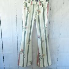 BDG Jeans 26 Floral High Rise Flare Bell Bottom Boho Hippie Urban Outfitters