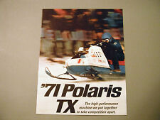 1971 Vintage Polaris TX Snowmobile Brochure