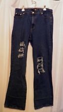 PJ PARKERS JEANS DARK BLUE WOMEN'S SIZE 21/22 BOOT CUT DISTRESSED  MSRP $52.00