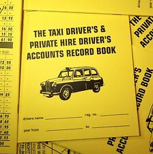 Taxi Meter Cab Driver Accounts Book for Accounting Expenses. Cash Record Keeping