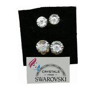 Orecchini doppio punto luce con Cristalli Swarovski