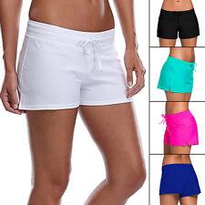 Womens Shorts Plain Bikini Swim Swimwear Ladies Boy Style Short Brief Bottoms DD