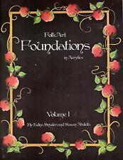 Edna Snyder & Susan Abdella: Folk Art FOUNDATIONS Vol I Painting Book - OOPS!