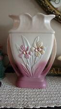 "Vintage Original Hull Double Handle 11"" Tall Iris Vase. Very Nice, L@K!"