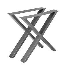 2x Struttura Tabella Base per Tavolo Gambe Scorrevoli 69x72cm Acciaio