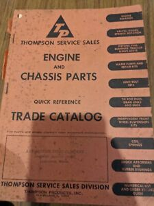 Thompson Service Sales Engine Chassis Parts Ouick Reference Trade Catalog 1948