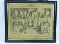 """(H306) Original Kupferstich """"Kirchliche Szene mit Jesus"""" unbekannter Künstler"""