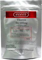 SYNVIT® Vitamin B6 100mg high strength
