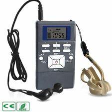 Mini Portable Pocket Digital Battery Powered FM Radio Receiver w/ Earphone Grey