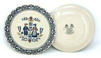 """Set of 2 Dinner Plates 10"""" OLD GRANITE HEARTS and FLOWERS JOHNSON BROS Brothers"""
