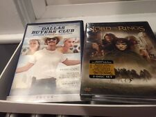 2 DVD Lot: Dallas Buyer Club (2014) Used & Fellowship of the Ring (2002) New