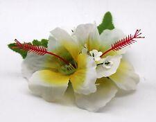 Hawaii Hair Clip Lei Party Luau Flower Dance Beach Photo Hibiscus Yellow Heart D