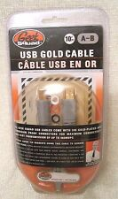 Geek Squad 10' Gold plated USB Cable ,6J07. A-B,GS-10UAB up to 480-MPS, Ring ID