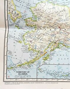 1956 Map Of United States Includes Territory Of Alaska National Geographic
