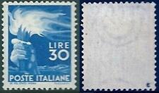 ** Italia 1945 Repubblica: DEMOCRATICA Lire 30 [563; MNH VF]  €550