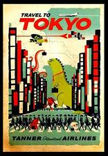 TOKYO A3 vintage retro travel & railways posters #3
