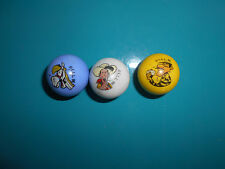 17.7.30.5 lucky luke lot de 3 billes publicitaire pub de 1996