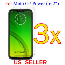"""3x Clear LCD Screen Protector Guard Cover Film For Motorola Moto G7 Power (6.2"""")"""