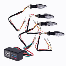 4pcs 12 LED SMD Spie lampeggiante giallo + 9 + 3 Blue moto Relè W6B2